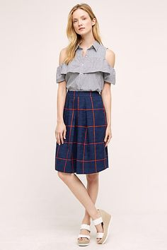 This Leonard St. Checked Skirt will be your next best friend.