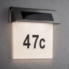 Solar House Numbers, Applique, Flip Clock, Facade, Electrical Appliances, Motion Detector, Solar, Facades