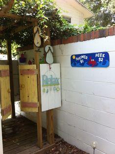 diy outdoor   Our DIY Outdoor Shower   home