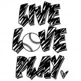 Live Love Play Softball Heat Transfer - easily apply to your shirt with a Heat Press