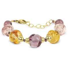 Antica Murrina Bracelets Venezia Heritage Murano Glass Bracelet (£43) ❤ liked on Polyvore featuring jewelry, bracelets, antica murrina jewelry, murano glass jewelry, golden jewelry, yellow jewelry and polish jewelry