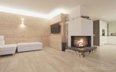 Eck-Kamin Wohnzimmer