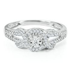 WANT! $90! Absolutely beautiful.   1/8 ct. tw. Round Diamond Promise Ring