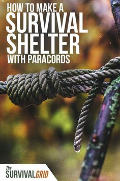Want to make a shelter using paracord? Check out these survival tips on how to build a survival shelter using paracord. Perfect for the outdoors or preppers and survivalists. Survival Shelter, Survival Food, Wilderness Survival, Outdoor Survival, Survival Knife, Survival Prepping, Emergency Preparedness, Survival Skills, Survival Hacks