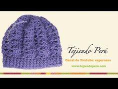 ▶ Boina tejida en crochet (slouchy beret) Parte1 - YouTube