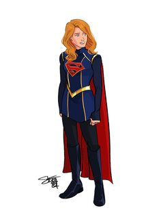 Supergirl costume design based on some.spoiler-y bts photos of a different character. By Comickergirl Dc Costumes, Super Hero Costumes, Character Outfits, Character Art, Character Design, Comic Books Art, Comic Art, Supergirl Comic, Superman Family