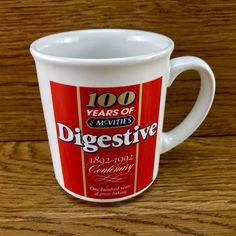 100 Years Of Mcvities Digestive Biscuits Cup Mug Collectable Brand New Mcvities Digestive, Digestive Biscuits, The 100, Cups, Baking, Tableware, Vintage, Mugs, Dinnerware