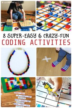 Help your child learn valuable tech skills with one of these 8 Easy and Fun Coding Activities for Kids. They'll learn basic computer programming (without a computer!) and have so much FUN they won't even realize they're learning! Basic Computer Programming, Computer Lessons, Programming For Kids, Computer Science, Kids Computer, Programming Humor, Computer Coding, Programming Languages, Teaching Kids