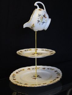 Mad hatter style cake or jewellery stand by Prettyvintagehouse