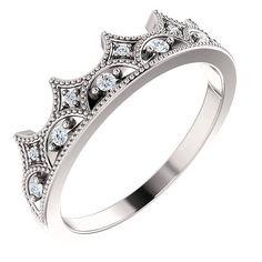Bonyak Jewelry Sterling Silver .015 CTW Diamond Youth Cross Ring Size 3