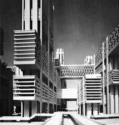 Kenzo Tange on penccil Tokyo Architecture, Concrete Architecture, Architecture Design, Classical Architecture, Landscape Architecture, Kenzo Tange, Bauhaus, Concrete Structure, Cities