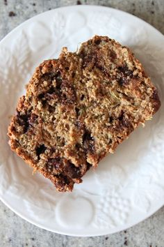 Zucchini chocolate chip bread from Bran Appetit.