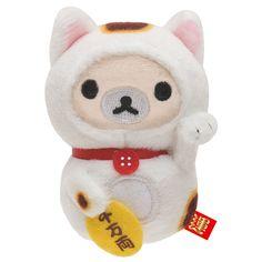 Korilakkuma #neko lucky cat ٩(๑❛ᴗ❛๑)۶  てのりぬいぐるみ(幸せを呼ぶキイロイトリ仙人・コリラックマまねき猫)
