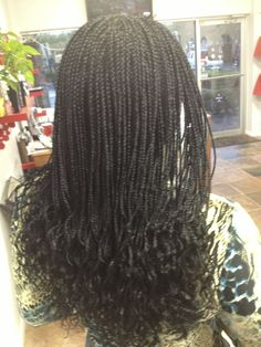 Small Box Braids | small box braids parted in micro braids parts to create micro