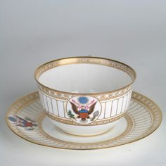 Theo Roosevelt teacup & saucer,1902 W1LS2