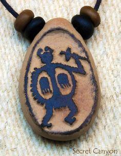 Native Indian Tribal Primitive - Clay Pendant Necklace - Petroglyph - Tewa Culture - New Mexico! ~SECRET CANYON~ http://www.amazon.com/dp/B00KE7UX6A/ref=cm_sw_r_pi_dp_eKShub0F2EMAE