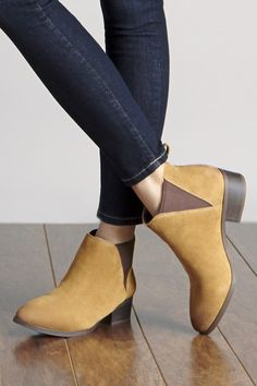 Easy, everyday suede booties