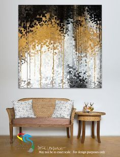 "Interior Room Focal Artwork Inspiration. Romans 11:12 Riches For The World. Magnificent Large Canvas Limited Edition Modern Christian Art Signed by Mark Lawrence. Inspiring, big 54""x54"" art on canvas. Ultra hand embellished with rich brush strokes by the artist"