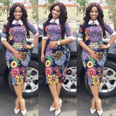 Need to add some colour to your wardrobe? Here are 70 Pictures of currently trending Ankara styles in We give Kudos to the exceptional stylists, and designers who put together these lovely pieces. Modern Ankara Styles in Vogue Short Ankara Dresses, Ankara Dress Styles, African Print Dresses, African Print Fashion, Africa Fashion, African Dress, Ankara Tops, African Prints, African Fabric