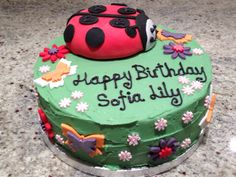 Really fun to make this one. Ladybird and flowers.