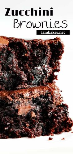 you've never added zucchini to your baked goods drop everything you are doing and do it now! These Zucchini Brownies are unbelievably moist and rich. A chocolate lovers dream! More drool-worthy and creative baked desserts on ! No Bake Desserts, Healthy Desserts, Easy Desserts, Delicious Desserts, Dessert Recipes, Creative Desserts, Dessert Bars, Healthy Foods, Cake Recipes