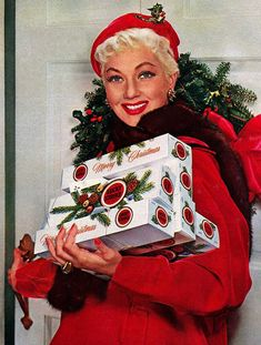 Ann Sothern for Lucky Strike cigarettes, Christmas, 1954
