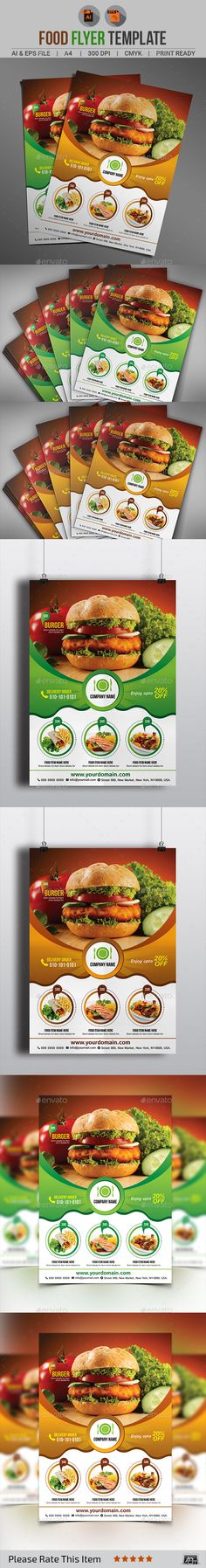 Food Menu Flyer V2 | Food Menu, Menu And Flyer Template