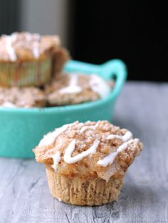 Using spice cake mix and apple pie filling, these muffins take just 15 minutes to prepare.