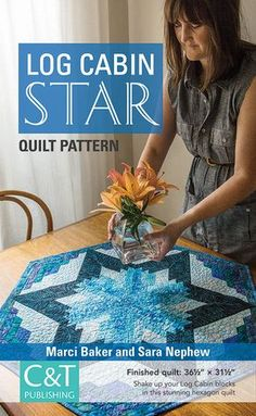 Give Log Cabin blocks a whole new look when you start from basic triangles and diamonds! Make a hexagon quilt table topper with simple Log Cabin piecing and no set-in seams. This mini-quilt pattern includes tips from best-selling author Marci Baker, whose innovative Clearview Triangle 60° Acrylic Ruler makes cutting a breeze!