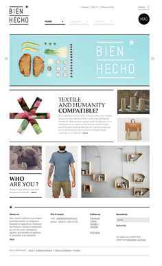 The Bien Hecho * adventure continued with the design of the website (shop online). Unfortunately, the project is waiting. (the hard life of start ups) ... :((  Thanks for their passion to : Daniel Yustos / Iñigo Puente / Kavita Parmar.