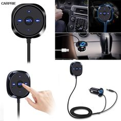 [Visit to Buy] Bluetooth 4.0 Wireless Music Receiver 3.5mm Adapter Handsfree Car AUX Speaker wwg #Advertisement