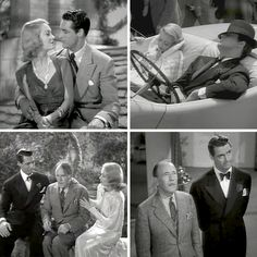 Topper 1937. Cary Grant and  Constance Bennett as George & Marion Kerby, and Roland Young as Cosmo Topper