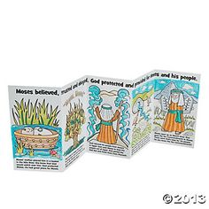 Color Your Own Moses Story- great idea for Sunday School