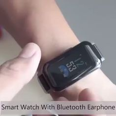 Combination of true wireless earbuds and fitness tracker Watch. Let the functions of the two combine. Not only a smart bracelet, but also a noise canceling Bluetooth Headset, it reduces noise from outside, you can enjoy stereo music. New Technology Gadgets, High Tech Gadgets, Futuristic Technology, Electronics Gadgets, Cool Gadgets, Technology Design, Computer Technology, Technology Logo, Educational Technology