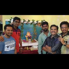 New pin for Ganpati Festival 2015 is created by by harshad_n with Ganpati Bappa  at my friend's place #GanpatiBappa #Ganpati #Bappa #InstaClick #InstaPic #f4f #f4follow #nofilter #ganeshutsove