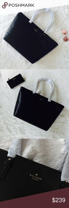 ♠️Kate Spade Grand Street Harmony Medium Tote♠️ 100% Authentic Kate Spade Grand Street Harmony Tote. Black Boarskin leather. Photos with sunglasses and wallet are to help show size perspective. Tote has protective foam/tissue paper in addition to tags. 😊 Details in last product photo. 💕 kate spade Bags Totes