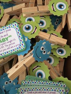 Baby shower party game Dont say baby 12 pc per order. Comes with a small…