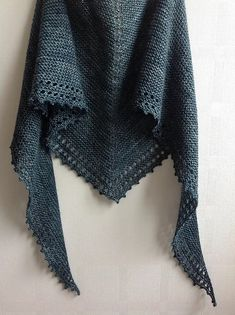 """I designed this simple shawl using all of my most favourite aspects of the many small shawls I have made over the years - garter stitch, eyelets and picots."""" Simple Shawl by Jane Hunter - Ravelry. Crochet Poncho Patterns, Knit Or Crochet, Knitted Shawls, Lace Knitting, Crochet Shawl, Knitting Patterns Free, Free Pattern, Cardigan Pattern, Knitting Scarves"""