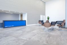 Fantastic office reception area, featuring modern tiles. Contemporary design.