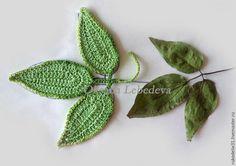 схемы для вязания крючком, цветы ирландское кружево