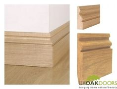 Ogee Solid Oak Skirting Boards