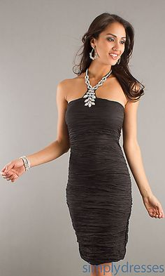 Knee Length Ruched Cocktail Dress at SimplyDresses.com