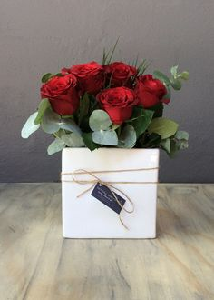 Spoil that someone special with this ceramic container filled with romantic red roses. Simply Beautiful, Red Roses, Valentines Day, Container, Gift Wrapping, Romantic, Ceramics, Gifts, Valentine's Day Diy