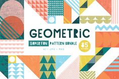 Who knew that geometric shapes could be so much fun? This set of patterns combines geometric shapes in exciting ways to create bright and distinctive backgrounds! They combine stripes, Graphic Patterns, Geometric Patterns, Cool Patterns, Geometric Shapes, Beautiful Patterns, Textures Patterns, Quilt Patterns, Vector Pattern, Pattern Art