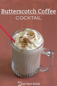 The Butterscotch Coffee Cocktail blends two liqueurs with a full serving of hot coffee. It's a fairly lightweight drink that's perfect for cool evenings or as an afternoon pick-me-up.