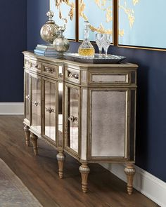 Dresden Four-Door Mirrored Buffet