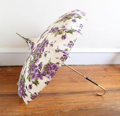 Floral Umbrella  Pagoda Style by theelmsvintage on Etsy, $68.00