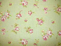 Clarke and Clarke Rosebud Sage | Textile Express | Fabric Online