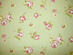Clarke and Clarke Rosebud Sage | Textile Express | Fabric Online