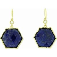 Irene Neuwirth Large Rose Cut Lapis Hexagonal Earrings in Yellow Gold $3585.00 - 5 Faves for Fall on InStyle